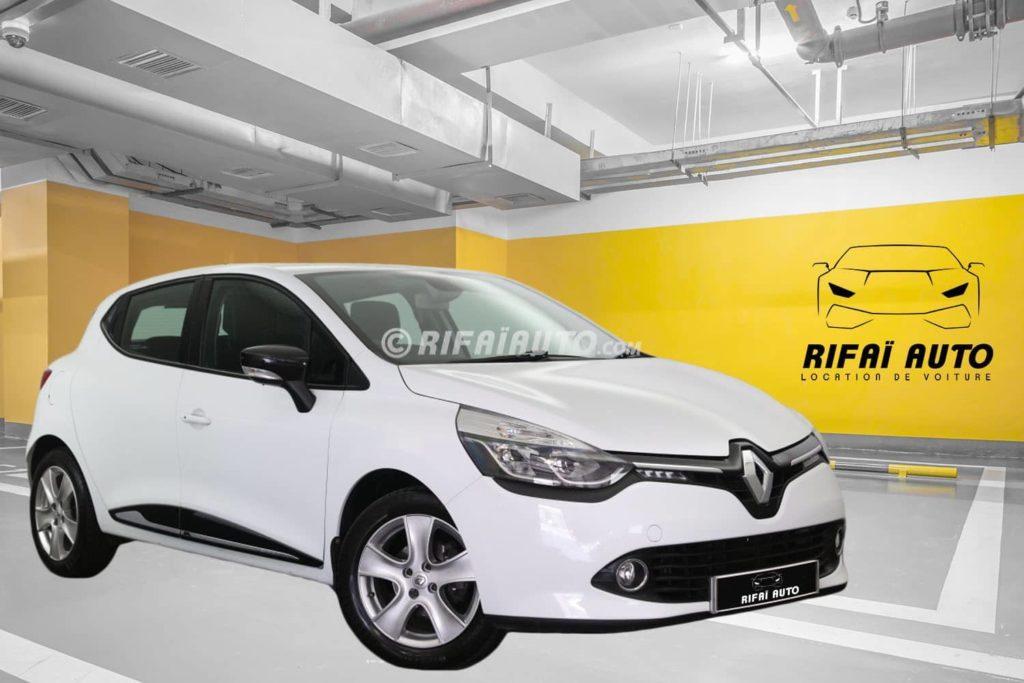 Rent Renault Clio 4 in Casablanca – White