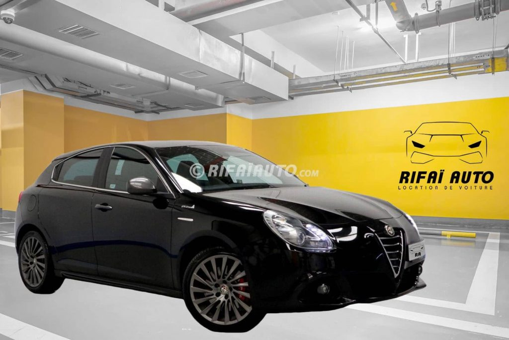 Rental of black Alfa Romeo Giulietta in Casablanca